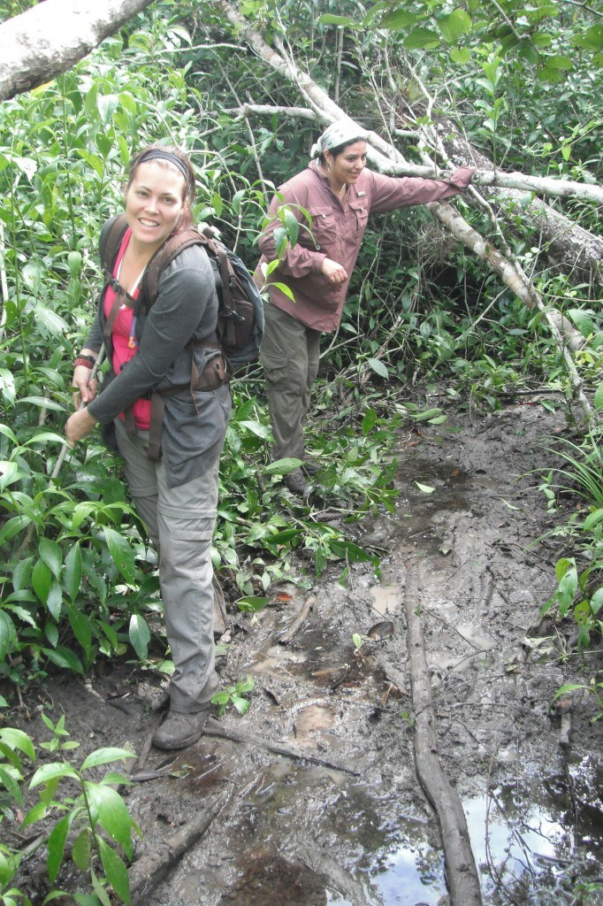 Lesh Avoiding The Mud On The Way To El Mirador