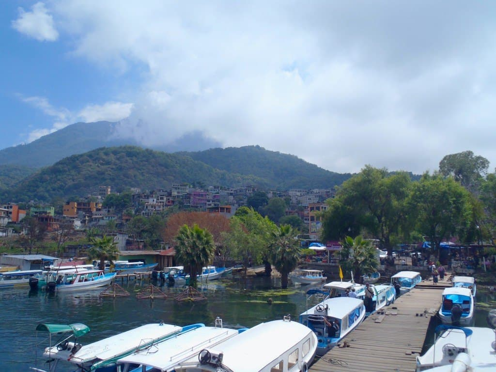 Looking Back From The Boat Dock To The Village Of Santiago