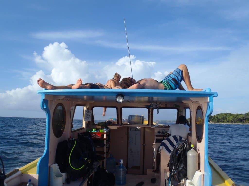 Boat Utila Honduras