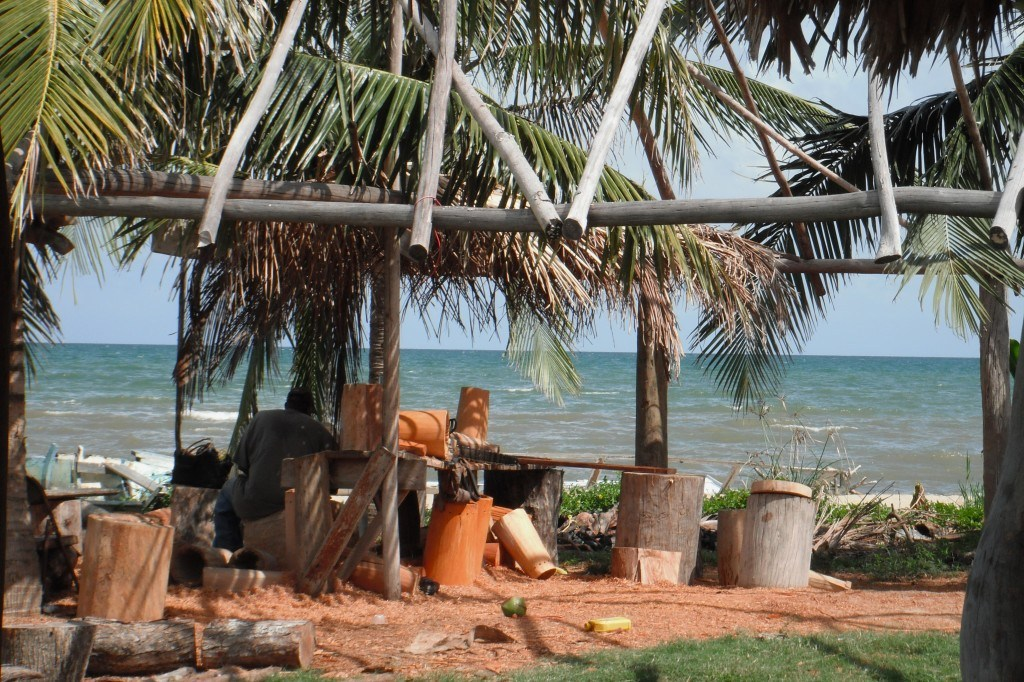 Alex Rodriguez's Drum Making Workshop On The Beach. Things To Do In Belize