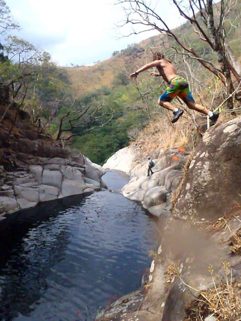 Only one way down! Canyoning In El Salvador
