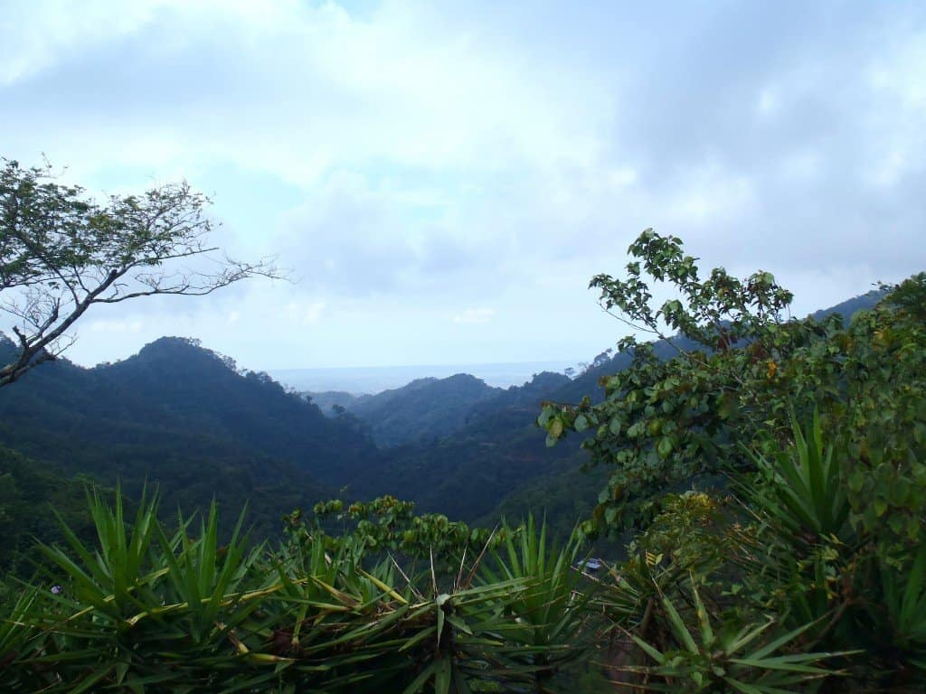 Overlooking Parque Nacional Impossible. Canyoning In El Salvador