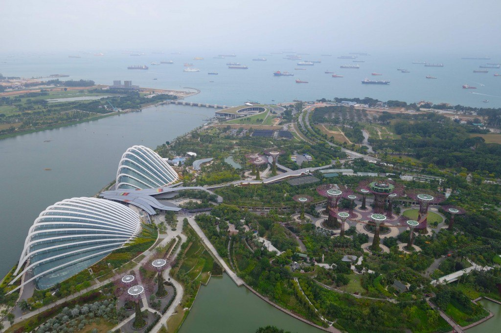 Marina Bay Sands View Backpacking In Singapore On A Budget