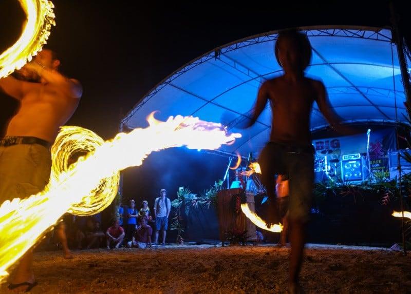 Fire Dancing Ton Say Bay Beach.