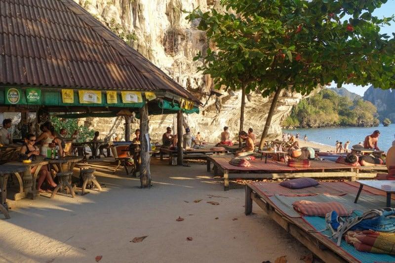 Relaxing At Freedom Bar Ton Sai Bay Beach