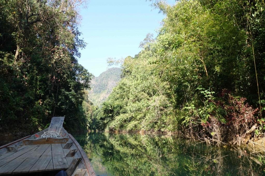 Floating through the Khao Sok jungle.