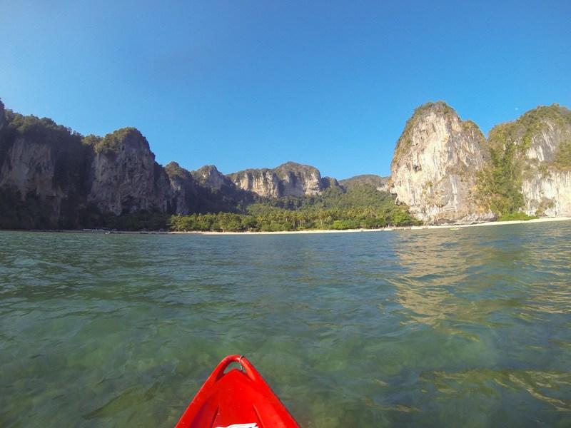 Kayaking Back To Ton Sai Bay Beach