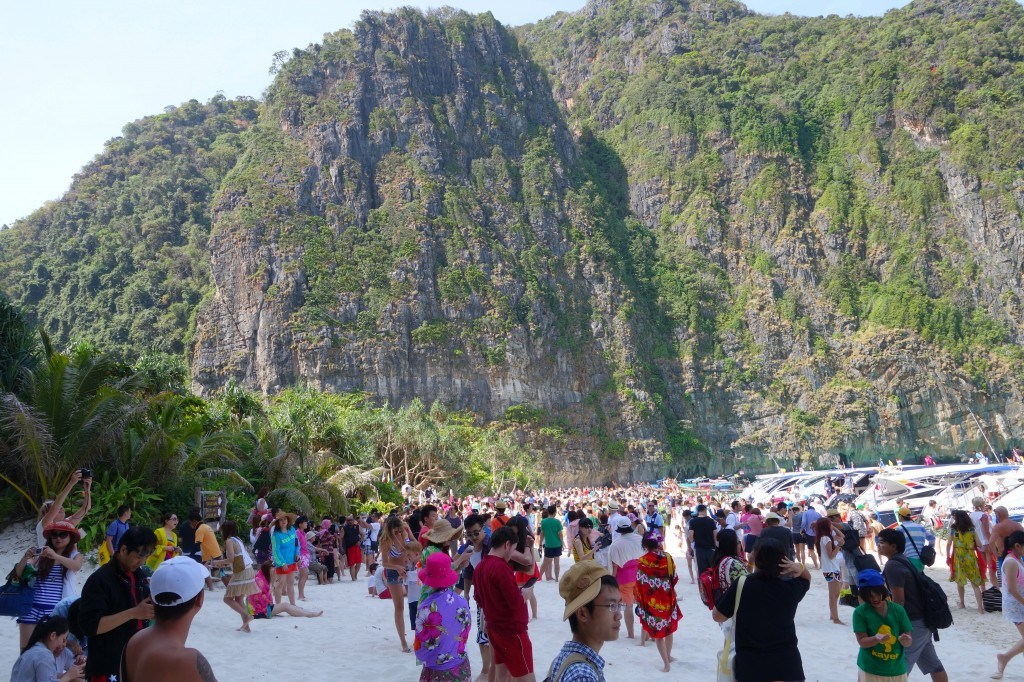 What Was Once Depicted As A Private Paradise Is Now A Tourist Hotspot. Maya Bay