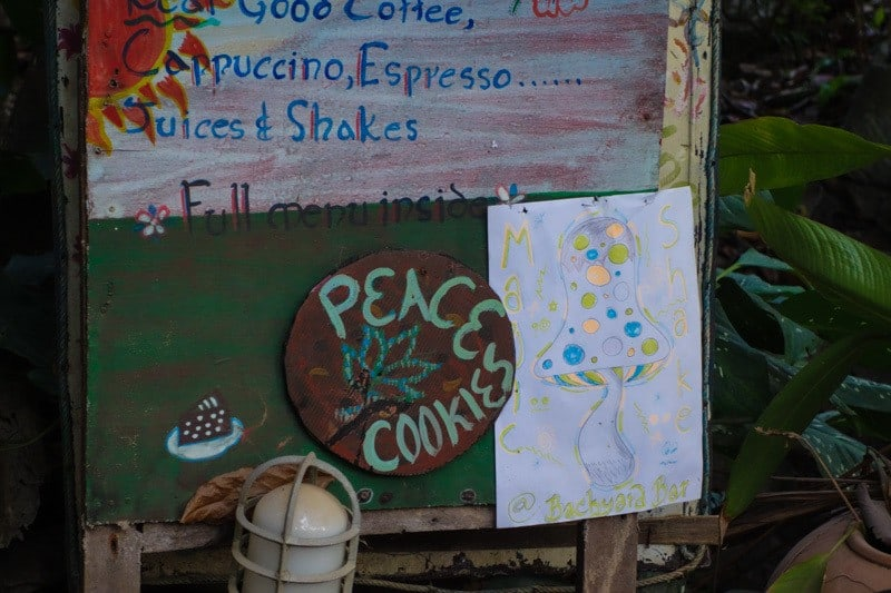 Peace Cookies And Happy Shakes. Ton Sai Bay Beach