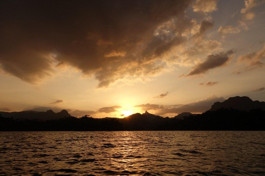A most epic sunset. Khao Sok