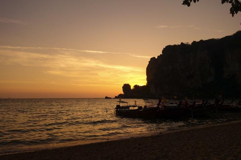 Sunset Ton Sai Bay Beach