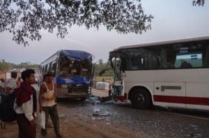 Myanmar - Where Buses Collide! Bus Crash