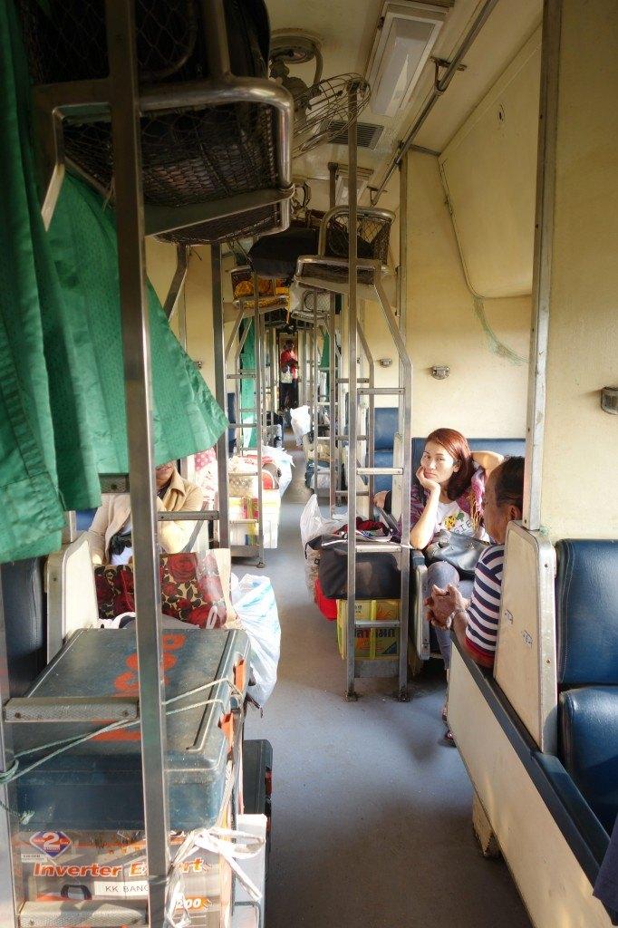 Inside The Train Carriage. Chumphon To Bangkok