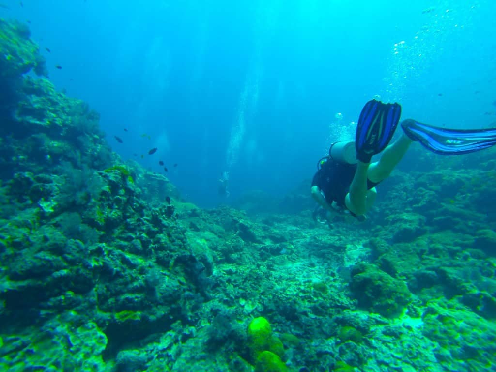 Jazza Diving In The Andaman Sea.