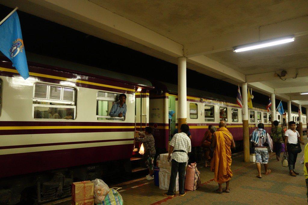 Waiting For Our Train To Depart In Chumphon. Chumphon To Bangkok