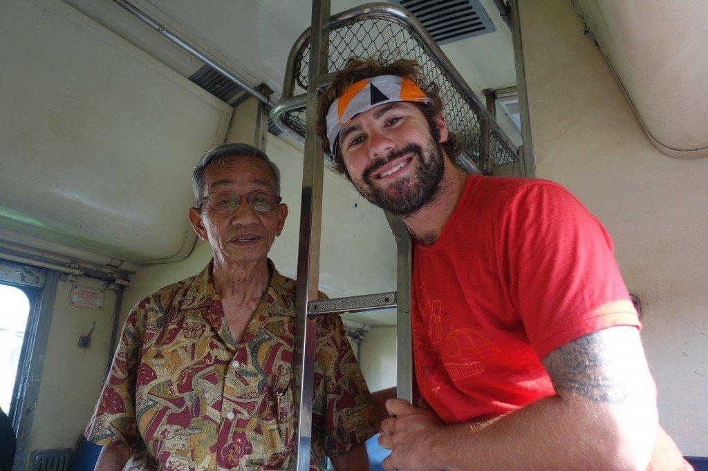 Jazza And The Friendly Thai Man. Chumphon To Bangkok Train