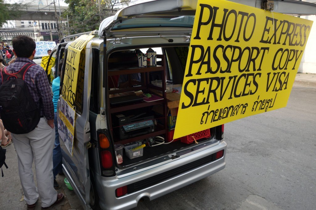 A Very Useful Van Parked Right Out The Front Of The Embassy.
