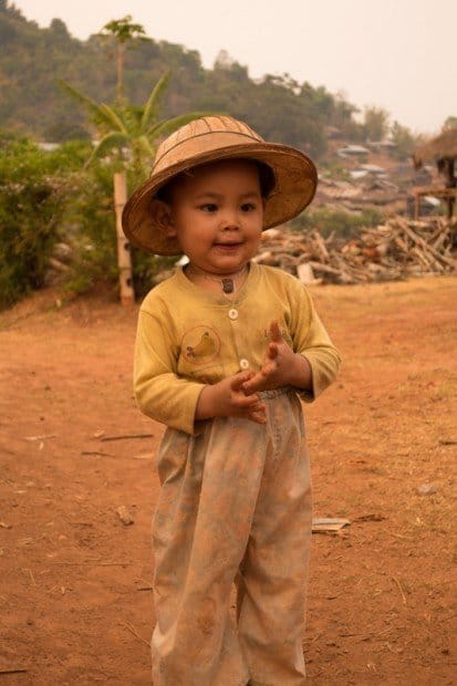 Kid With A Cool Hat Hsipaw Trekking