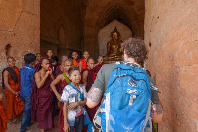 Jazza With Monks