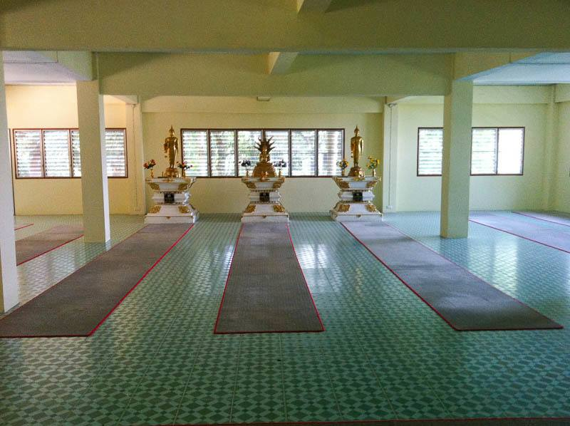 The Meditation Hall. Vipassana Meditation Course Chiang Mai Thailand