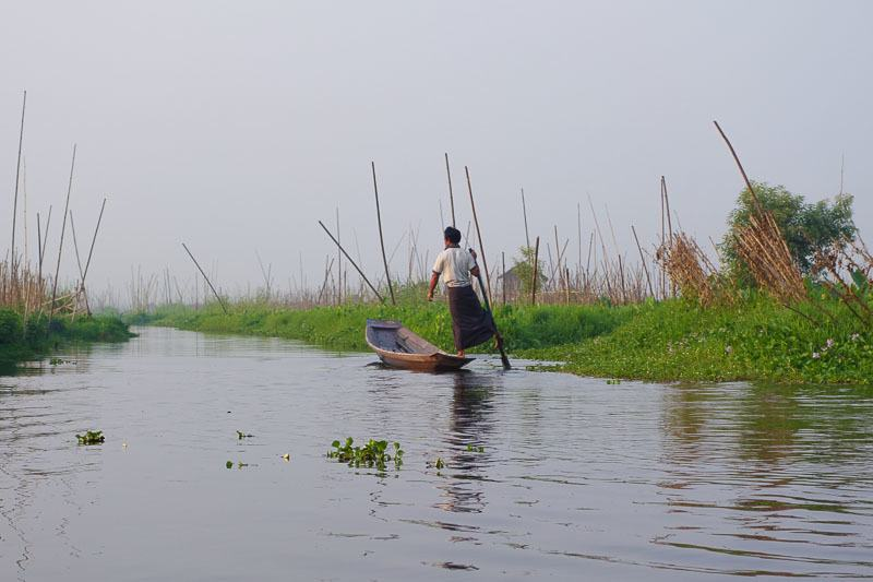 A Fisherman On Inle Lake. Budget For Myanmar