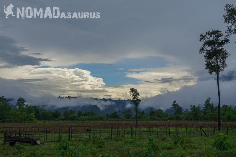 Storm Clouds Thakhek Loop Motorcycle Scooter Laos