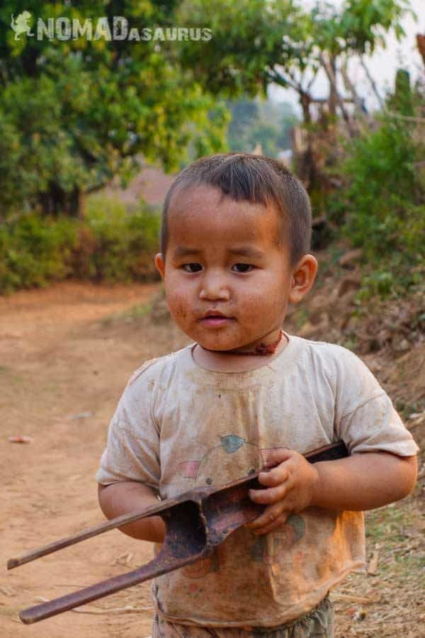 Cute kid people of Myanmar