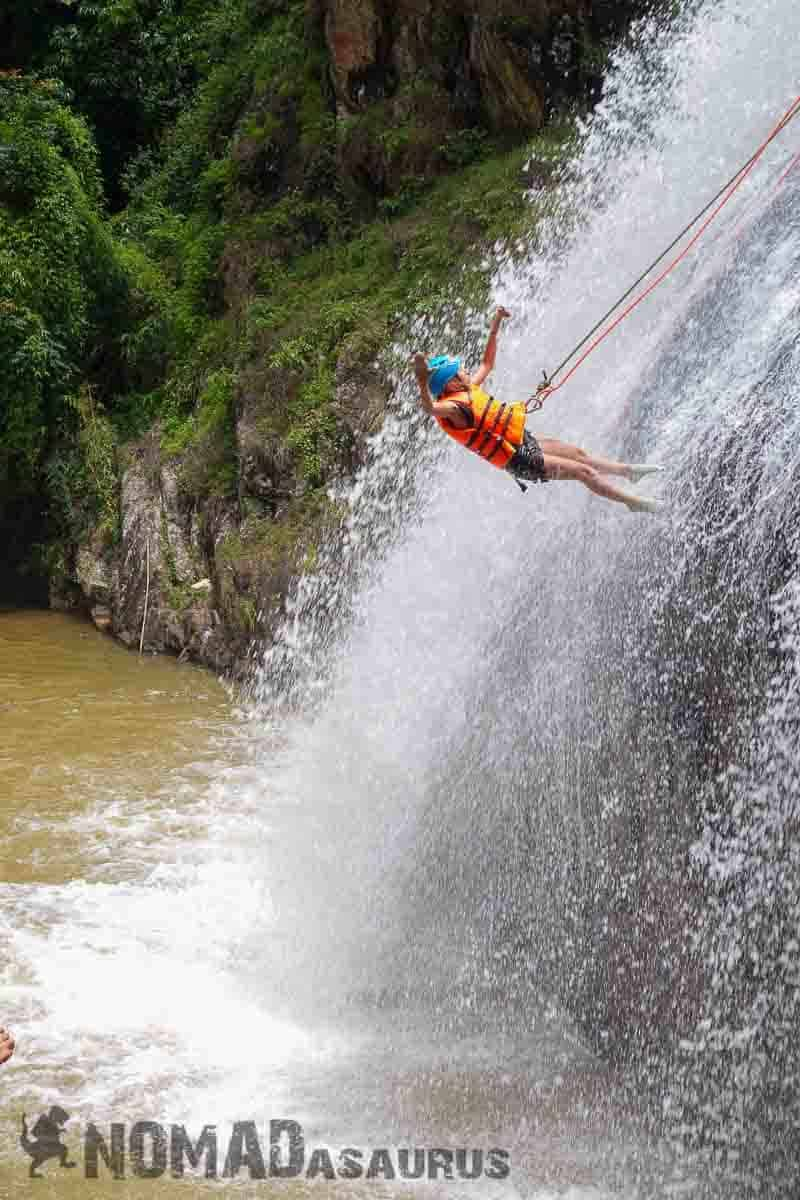 Taking the leap! Canyoning in Dalat.