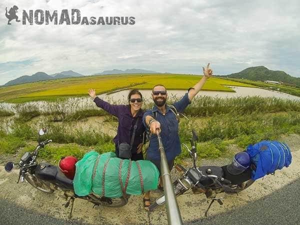 Cambodia motorbikes selfie 6 months
