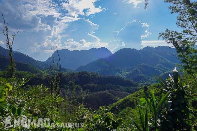 Gorgeous scenery. Laos motorcycle adventure