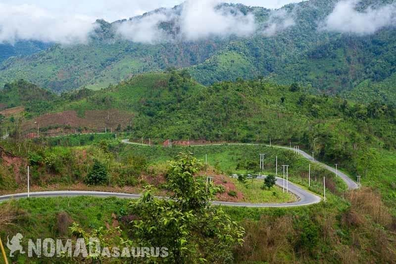 Great roads, even greater views. Laos motorcycle adventure