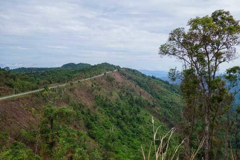 Mountain road. Laos motorcycle adventure