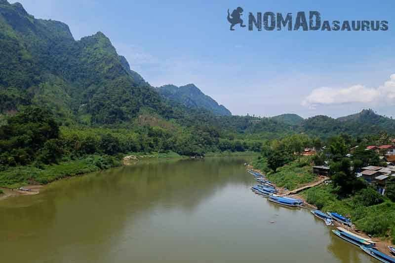Nong Khiaw. Laos motorcycle adventure