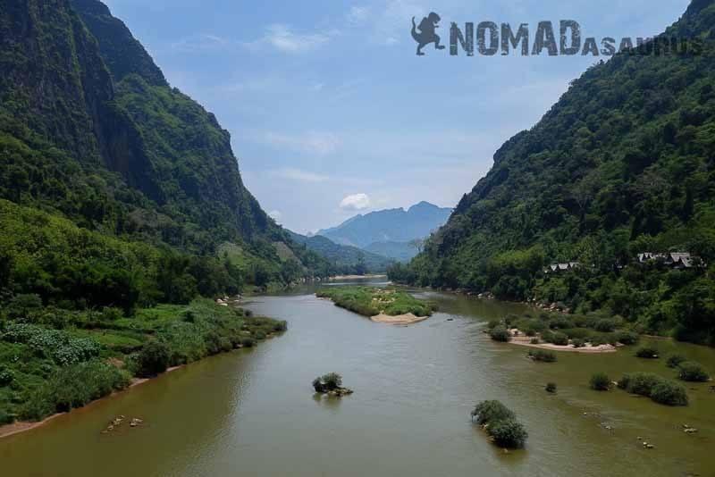 The Nam Ou river in Nong Khiaw.