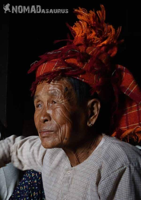 Shan lady people of Myanmar