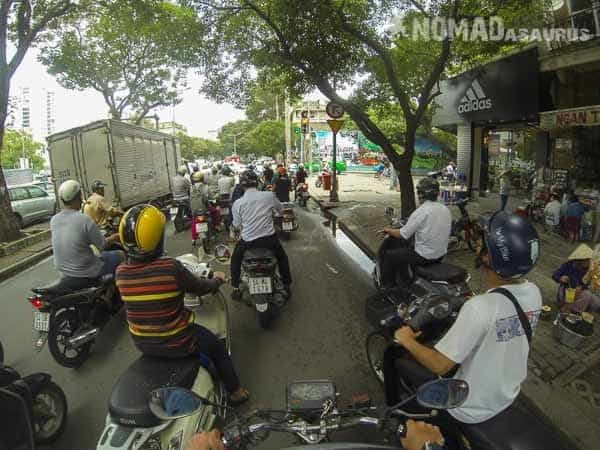 Ho Cho Minh City Traffic Southern Vietnam Motorcycle Adventures