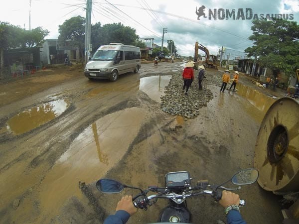 Muddy Road Southern Vietnam Motorcycle Adventures