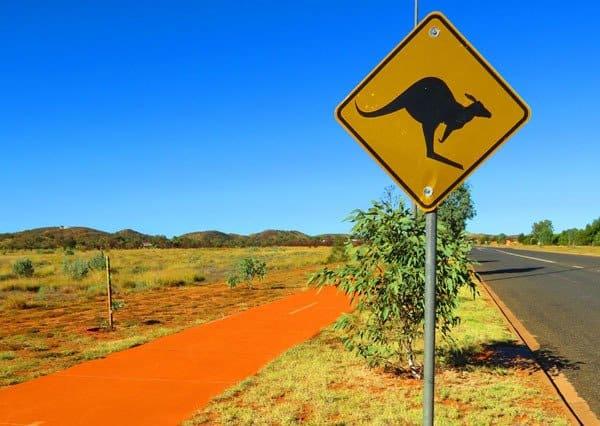Overland Australia Travel Experience Kangaroo Sign