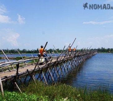 Vespa Tour Hoi An Vietnam Bamboo Bridge