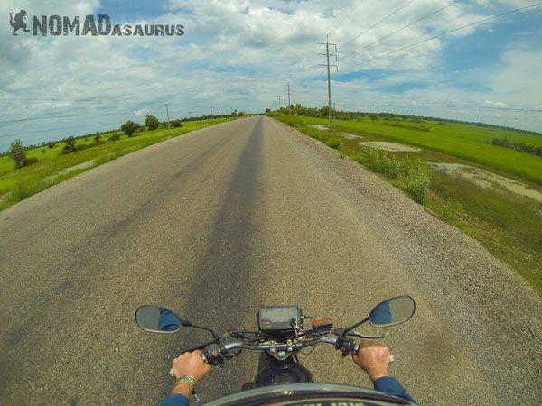 Cambodia Motorcycle Adventure Battambang To Siem Reap Road
