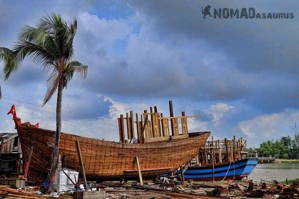 Vespa Tour Hoi An Vietnam Boat Yard