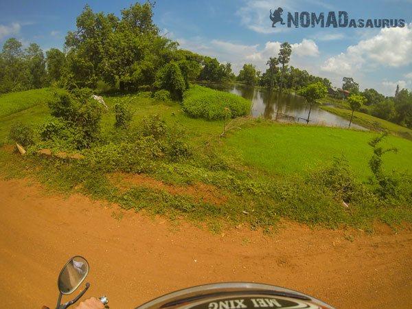 Cambodia Motorcycle Adventure Kampong Cham Phnom Penh Farmland