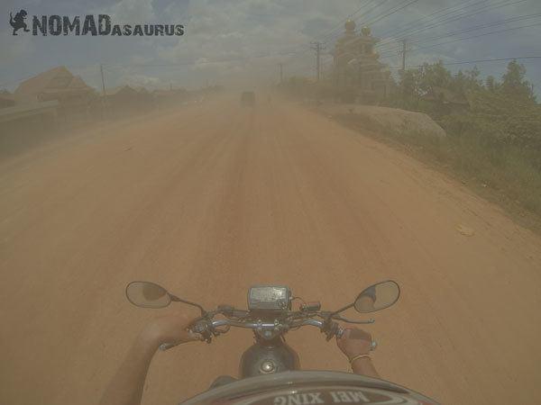 Cambodia Motorcycle Adventure Phnom Penh Snoul Dust Road