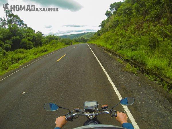Cambodia Motorcycle Adventure Snoul Mondulkiri Nice Road