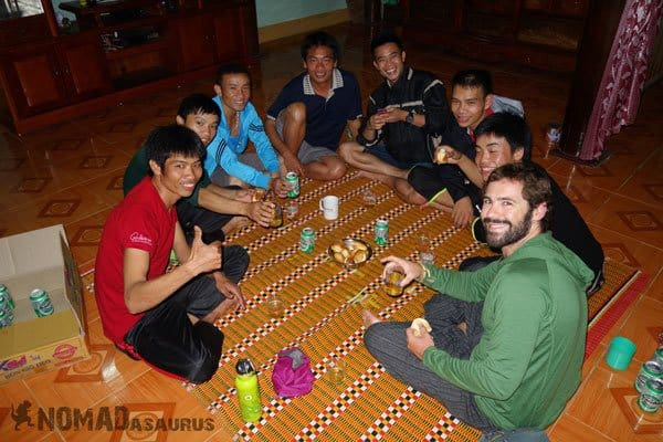 Tan Hoa Tu Lan Cave System Staff Guide Porter Chef Drinking