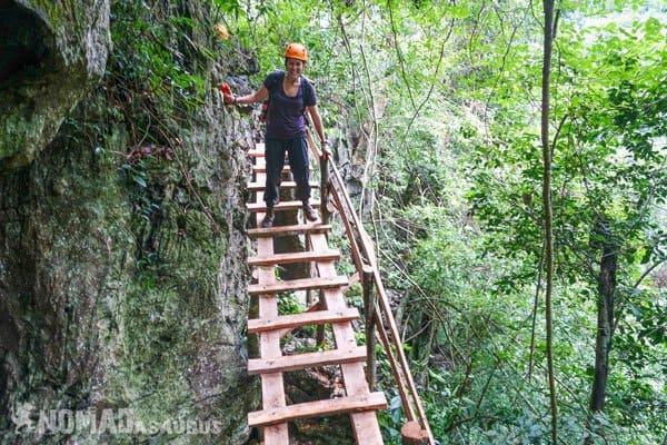 Lesh Ladder Tu Lan Caves Oxalis Expedition