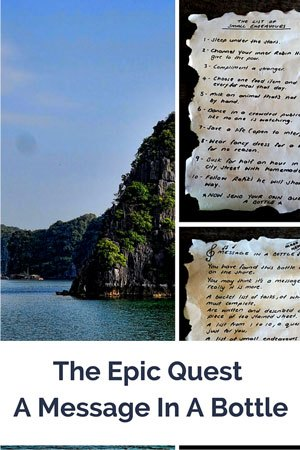 Message In A Bottle, Halong Bay