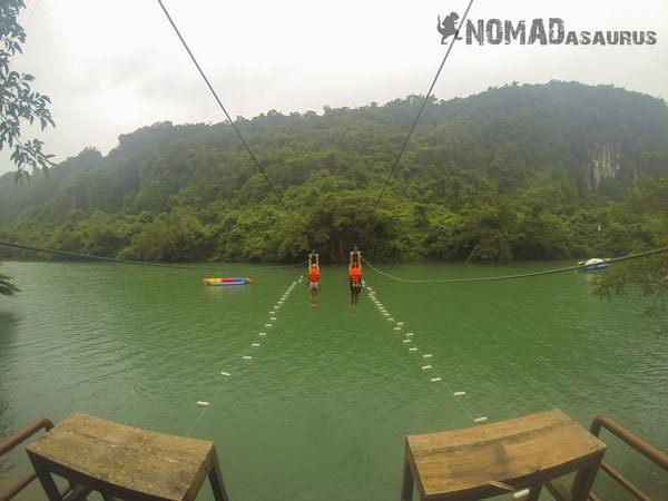 Phong Nha National Park Tour Zip Line River Jump