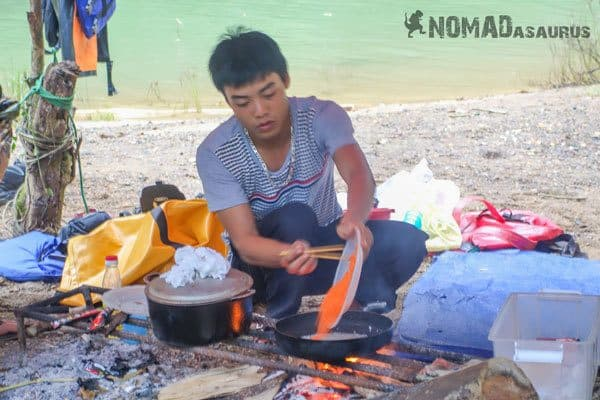 Chef Breakfast Tu Lan Caves Oxalis Expedition