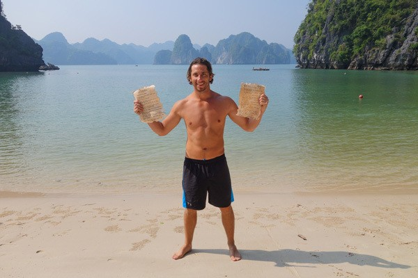 Sean With The Epic Quest Message In A Bottle Halong Bay Vietnam